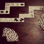 černobílé domino les